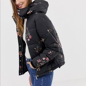 QED London floral puffer jacket